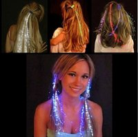 Wholesale 10pcs Colorful Flash LED Hair Braid Clip Hairpin Decoration RGB Ligth Up For Show Party Dance Christmas