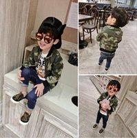 Wholesale 2016 new spring coat boys handsome Korean kids children jacket camouflage Baby Sweater zipper tide new brand