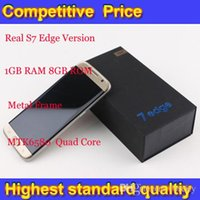 Wholesale S7 Edge Version Goophone S7 edge Metal Frame GB RAM GB Rom Quad Core WCDMA G Network Smartphone DHL Free