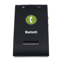 auto mic - DHL Bluetooth Car Kit E Sun Visor Handsfree Speakerphone Music Player Multipoint Speaker Phone Auto Connect With Mic