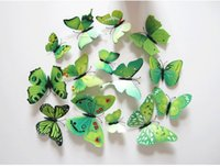 background color chart - D butterfly stickers color TV background wall green Home Furnishing jewelry Caidie posted set