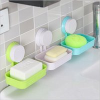 Wholesale Mix Sale Color Suction Cup Holder Soap Dishes Bathroom Home Soap Dishes Tray Wall Soap Storage Box