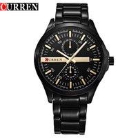 auto current - Men original current brand waterproof full steel calendar display luxury clock curren wrist quartz watch
