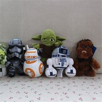 Wholesale 5pcs cm Star wars chewbacca Phasma yoda BB D2 R2 robot plush soft dolls set