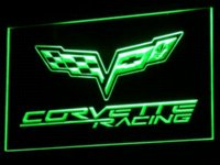 Wholesale d095 Chevrolet Corvette Racing LED Neon Light Sign sign controller sign magic sign plotter