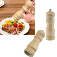 Wholesale Vintage Wooden Salt Spice Sauce Corn Shaker Pepper Mill Grinder Kitchen Tool inch Herb Spice Tools CS64