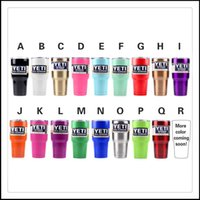 Wholesale Yeti Rambler Tumbler Stainless Steel Colors oz Cup Gold Bright Red Purple Light Blue Orange Light Green Colors In Stock