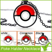 ball time - 2016 New Poke Halder Necklace Vintage Retro Time Gemstone Ball Pendant Necklace Jewelry Gifts XMas free DHL shipping