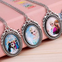 baby girl indian dresses - New arrive Frozen Necklaces Colorful Ribbon Necklace Cartoon Pendants For Baby Clothes Girls Dress Accessories Frozen Necklace