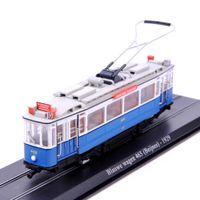 atlas e - Collectible Atlas Scale Tram Blauwe wagen Beijnes Diecast Model Truck Bus Model Toys For Children Kids Toys Gift E