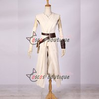 Wholesale Custom Made Star Wars The Force Awakens Rey Uniform Moive Jedi Cosplay Costumes For Adult Women