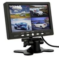 7 pouces 4 Split Quad TFT LCD affichage DC 12V voiture Rear View Headrest moniteur pour DVD inverser caméra vente chaude
