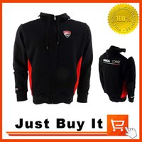 Wholesale Great Quality Black The new MOTO GP motorcycle clothing overalls casual cotton zip up sweater