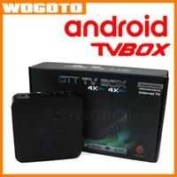 Cable por mayor androide elegante de TV Set Top Box digital MXQ Amlogic S805 OTT Multimedia puerta de enlace a Internet 4X 4X CPU GPU Android TV Box