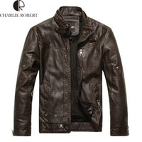 Wholesale Fall New Arrival Brand Motorcycle Leather Jackets Men Jaqueta De Couro Masculina Mens Leather Jackets Zip Leather Jackets
