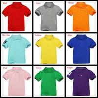 Wholesale Summer Kids Polo Shirts Short Sleeve Boys Girls Cotton Tee Shirts Sport Brand Children Shirts Boys Girls Tops Polo Shirt Color