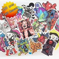 aluminum body laptop - 100 Mixed funny hit stickers for kids Home decor jdm on laptop sticker decal fridge skateboard doodle stickers toy stickers Size cm