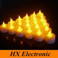 electronic candle - Tealight Tea Candle LED Candles for Wedding Birthday Party Christmas Home Light Decoration Smokeless Flameless Electronic Flash Battery Oper