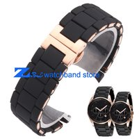 Wholesale The Silicone Rubber Watchband Rose gold in Black AR silica gel for man mm woman mm watch band strap