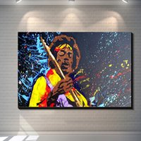 Wholesale Vintage Abstract Rock n roll Jimi Hendrix Painting Picture Canvas Poster Bar Pub Home Art Decor Custom Fashion Classic Print Canvas Paint