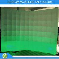 Wholesale size x2 m digital led lighting inflatable photobooth wall backdrop