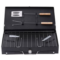 adjust grill - Folding grill charcoal Thickening barbecue machine outdoor box oven Burn carbon BBQ can adjust htight portable