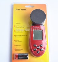 Wholesale New Lux Digital Light Meter LCD Luxmeter Lux FC Luminometer Photometer Measure Tester