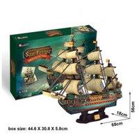 battleship paper - San Felipe Battleship D Puzzles Children DIY Boat Puzzle Game0s Gift Toy for Adult Children Party