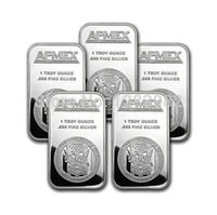 apmex silver - 1 oz APMEX Silver Bar DHL Non Magnetic Oz Fine Silver replica Art bullion Bar Bars