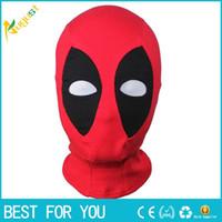 Máscara del nuevo cuero de la PU caliente Deadpool Máscaras de Halloween del super héroe del pasamontañas X-men camionero Sombrero del partido del traje de Cosplay Flecha cuello de la capilla de la cara llena