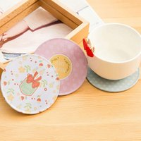 Wholesale High Quality Wood Home Table Cup Mat Creative Decor Coffee Drink Placemat Retro Drinks Coaster