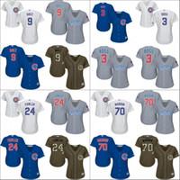 dexter - 2016 Postseason Patch Chicago Cubs Womens Javier Baez Dexter Fowler Joe Maddon David Ross Baseball Jersey Stitched Size S XL