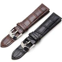 Wholesale Hot sales Brand Durable waterproof Brown Men Women Black Leather Watchband mm mm mm mm mm mm mm free