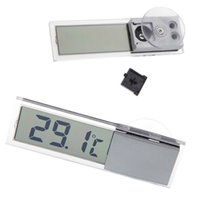 Wholesale Mini Portable LCD Digital Temperature Meter Display Car Meter Gauge Temp Tester Suction Auto Home Household Mirror Thermometer order lt no t