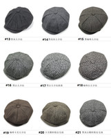Wholesale 2016 New Fashion Octagonal Cap panel hats Beret adjustable trendy Men s Beckham style Peaked cap classical Retro colors for option