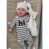 Wholesale 2016 baby long sleeve striped clothes newborn girls boys romper infant cotton onesies jumpsuit clothing summer high quality bodysuits
