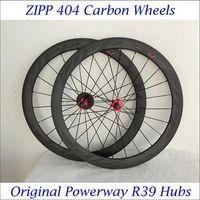 Wholesale Excellent Quality C Carbon Wheels Road Bikes C Black Decals Matt Finish Cycling Carbon Wheelset Clincher Tubular Powerway R39 Hubs
