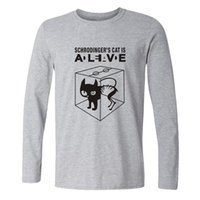 big bang theory - The Big Bang Theory Schrodinger s Cat T shirts Men Swag Funny Cotton Long Sleeve Tshirts New Fashion autumn Style T shirt