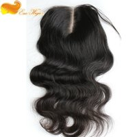 affordable lace closures - Both Economic And Affordable A Peruvian Virgein Hair Lace Closure Way Part Closure Natural Color Body Wave x4
