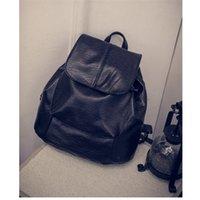 backpacks buy - Korean version buying trend retro leather backpack large capacity double shoulder portable backpack super soft vintage backpack