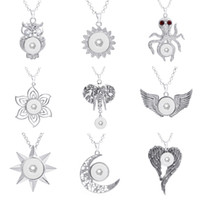 best value crystals - Best Value NOOSA Metal Ginger Snap Button Pendants Charm Pendant With Crystal Styles Fit mm Snaps Button Trendy Jewelry E759L