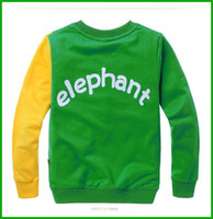 baby elephant costume - fashional baby boys elephant print long tops bright color long sleeved t shirts children costumes one piece available
