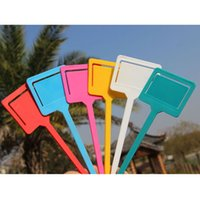 Wholesale Hot High Quality Plastic T type Garden Gardening Label Plant Flower Nursery Label Tag Marker Thick Color E5M1