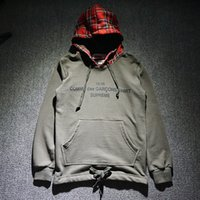 Wholesale New Cooperation Suprem Hoodie Fashion Fleece Sweatshirts Brand Hip Hop Sup X CDG s s YEEZUS Hoodie Hot Sale