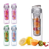 application bicycle - 700ML Fruit Infusing Infuser Water Bottle Sports Lemon Juice Flip Lid Suitable Camping travel water cup outdoor application