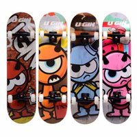 Wholesale UGIN longboard with Seven Russian Maple Professional Four wheel Street Longboard quot x8 quot Long skateboard For Children and Teens