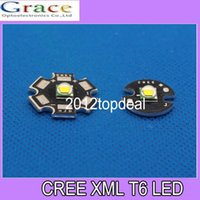 Wholesale CREE XML LED T6 U2 W WHITE High Power LED Emitter with mm mm PCB for DIY