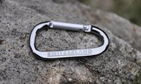 alice backpack - E EDC Tool SWITZERLAND Carabiner ALICE kettle safety clasp Aluminum Clips Hook Backpack Hanging Buckle Outdoor Survival Keychain