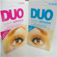 Wholesale DUO Professional Waterproof Clear Adhesive Brand Eyelash Glue g Dries Invisibly Good quality Individual Packed Eye Lash Glue