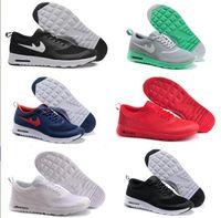 achat en gros de air max femmes-Livraison gratuite 2016 de haute qualité nouvelle impression Thea chaussures de loisirs 90 sport femmes hommes chaussures de sport de jogging en plein air Chaussures de taille max 36-46 en cours